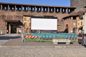 cinema all'aperto Castello